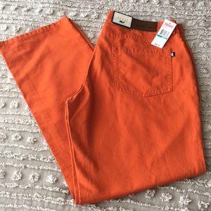 NWT Vineyard Vines orange canvas pants sz 35 x 32